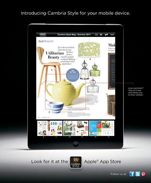 Cambria Style App Ad