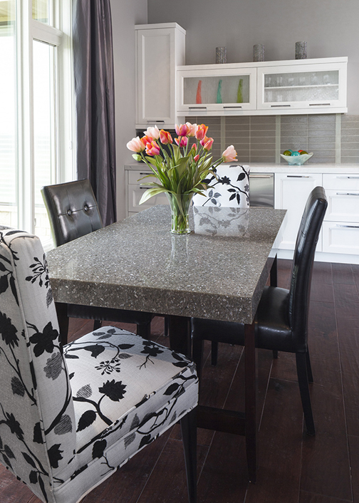 Kitchen table feature Cambria Surfaces