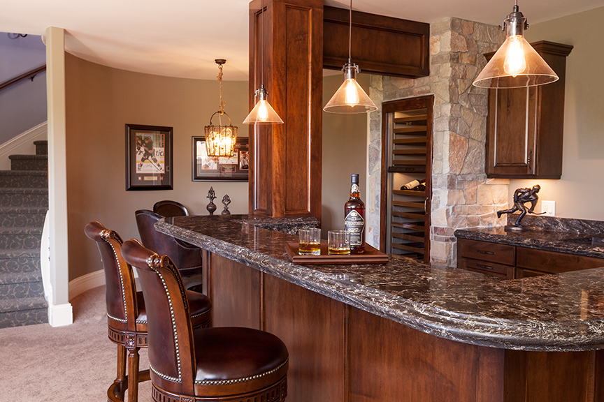 Bar featuring Cambria Surfaces