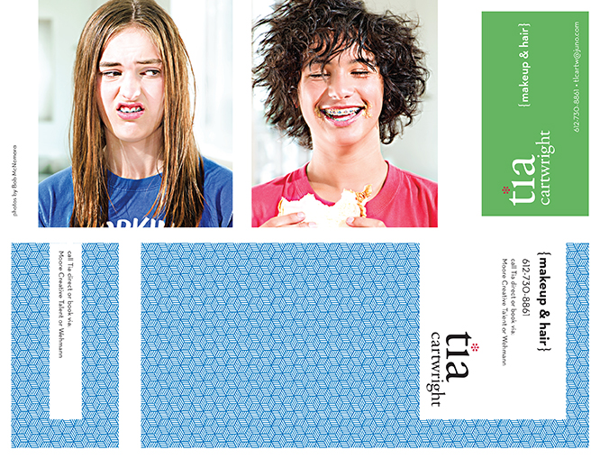 Tia Cartwright Self-Mailer with Integrated Business Card