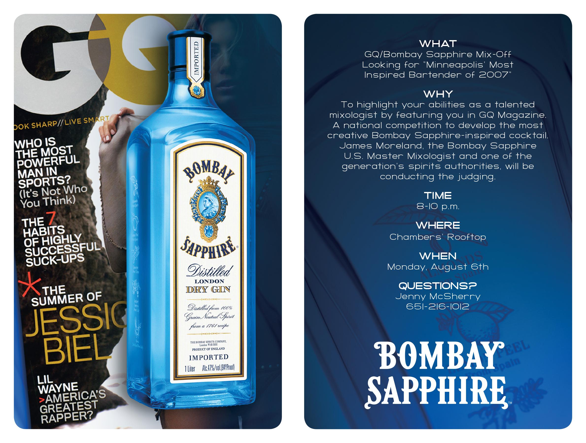 Bombay Sapphire Invitation