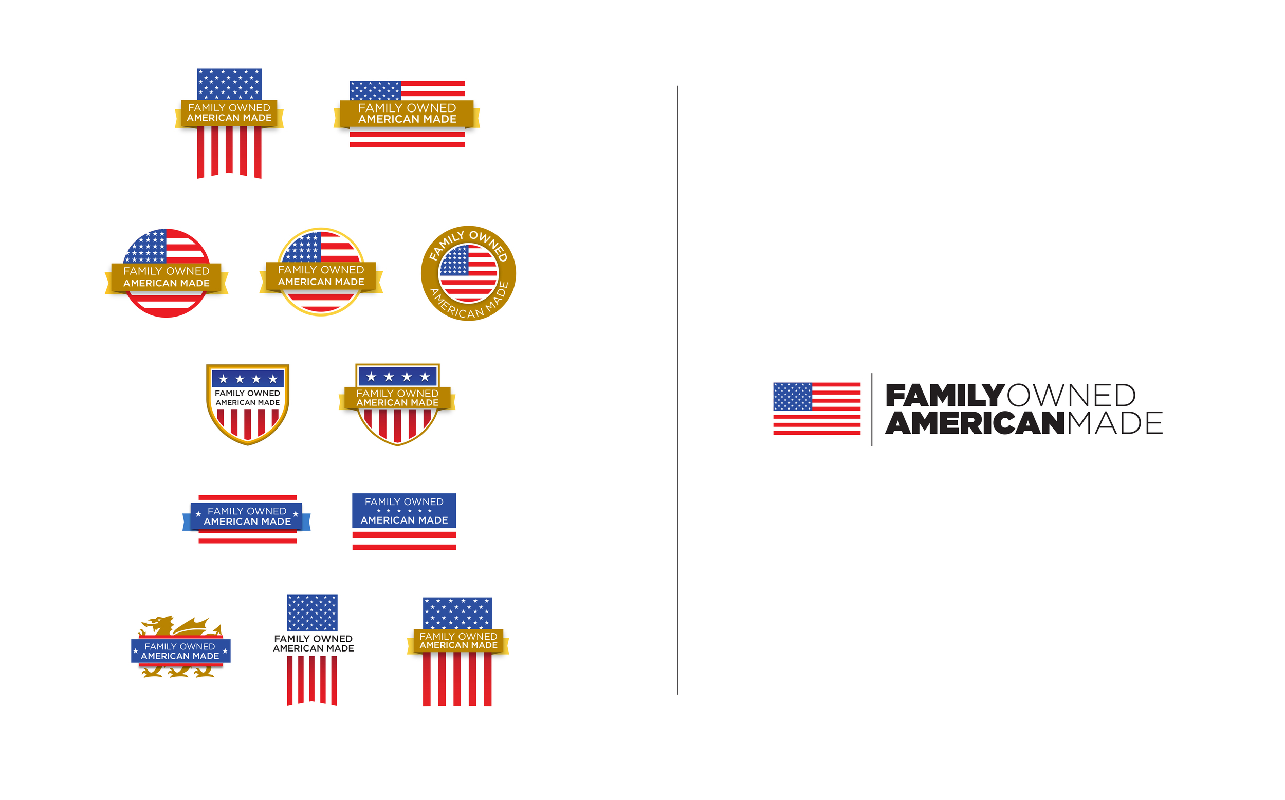 Family Owned - American Made Logo Exploration