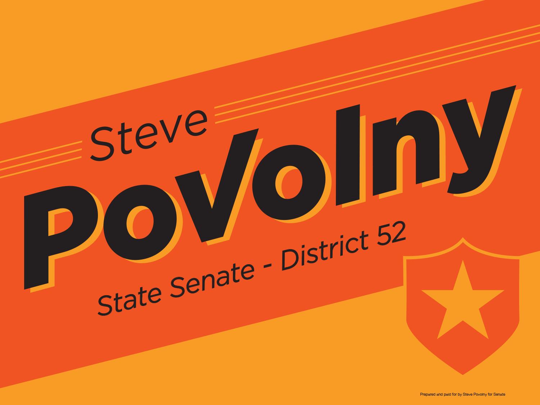 Steve Povolny Yard Sign