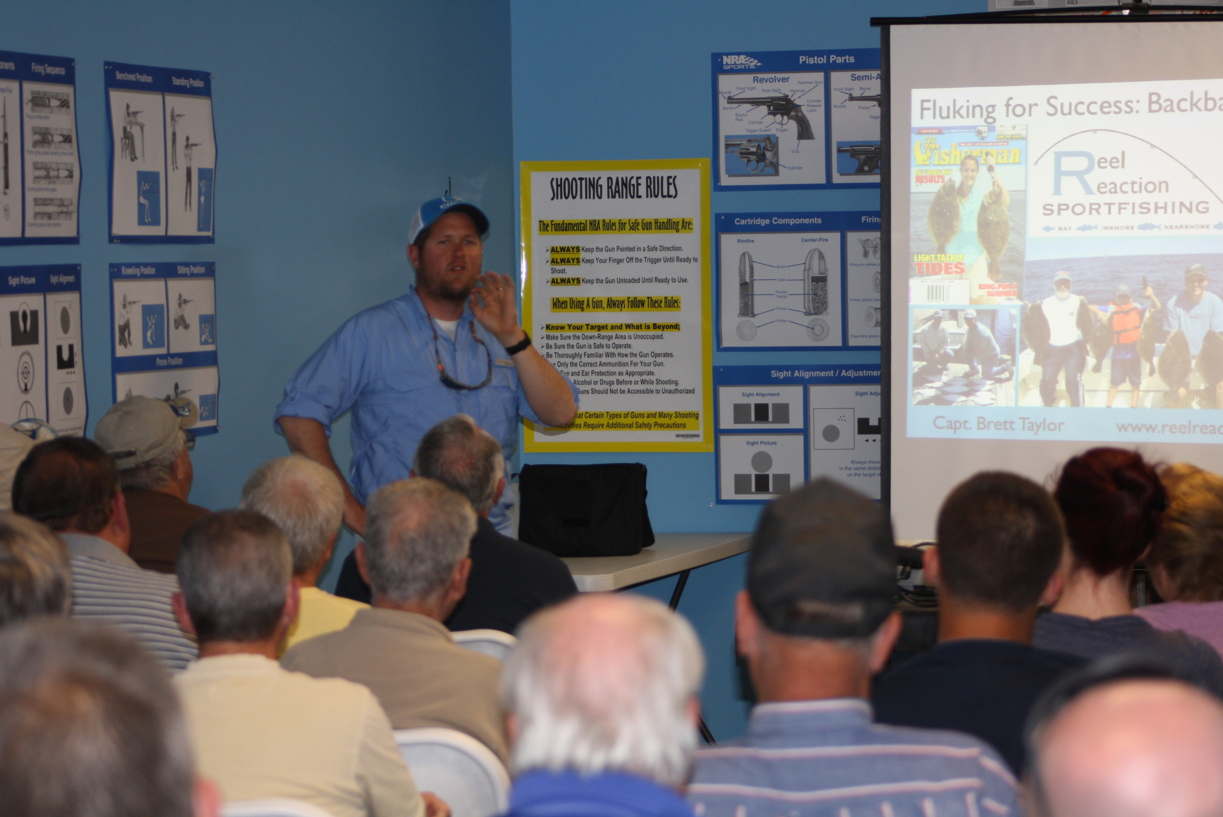 Shooter's Early Season Fluke Seminar with attendance over 80