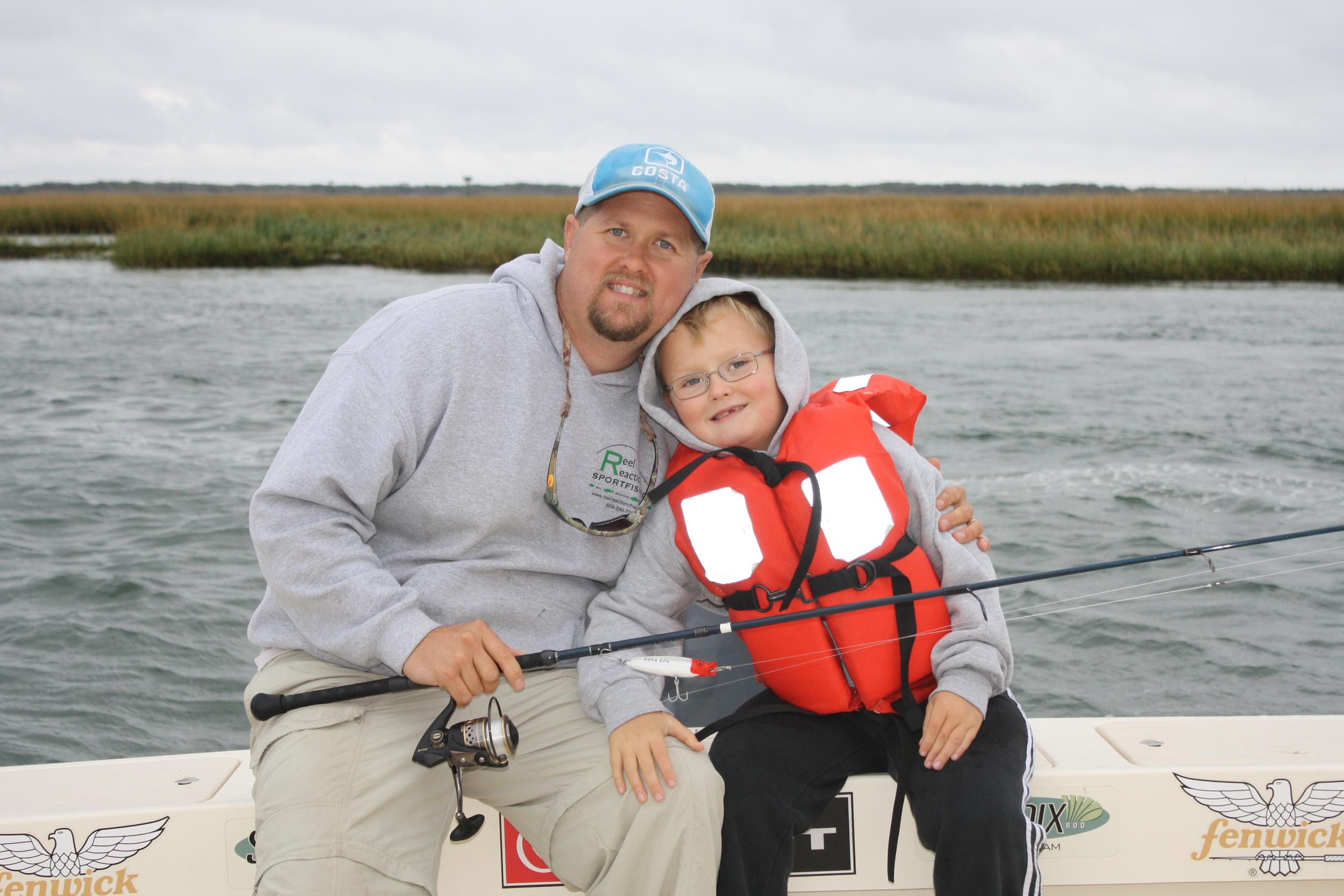 Capt. Brett Taylor and son Luke Taylor