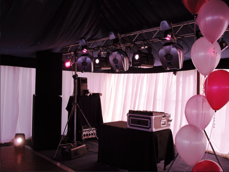 Pink themed party with pink uplighters