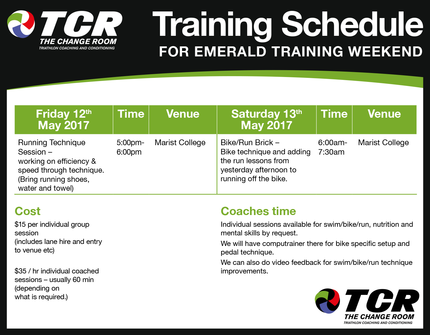 Download PDF for Emerald Training Session here