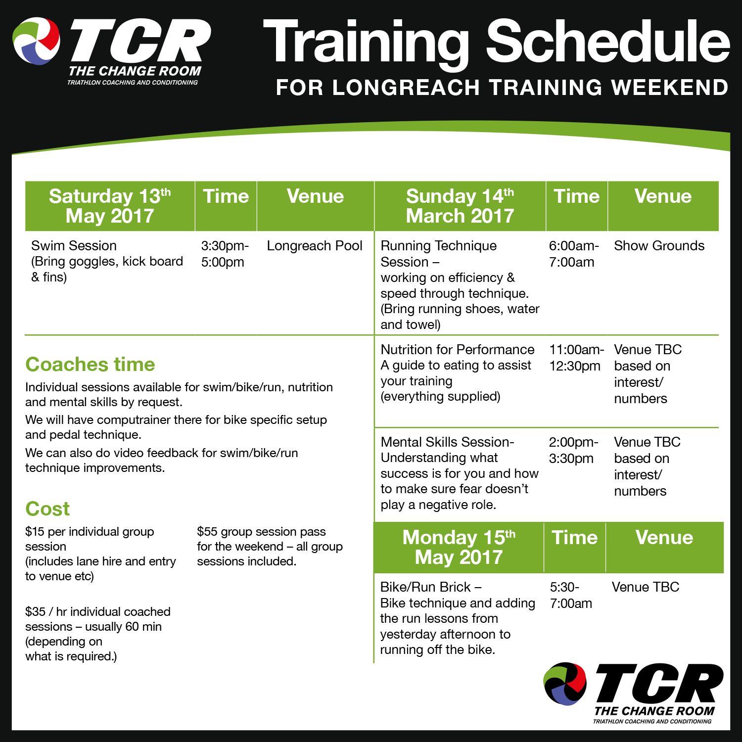 Download PDF for Longreach Training Session here
