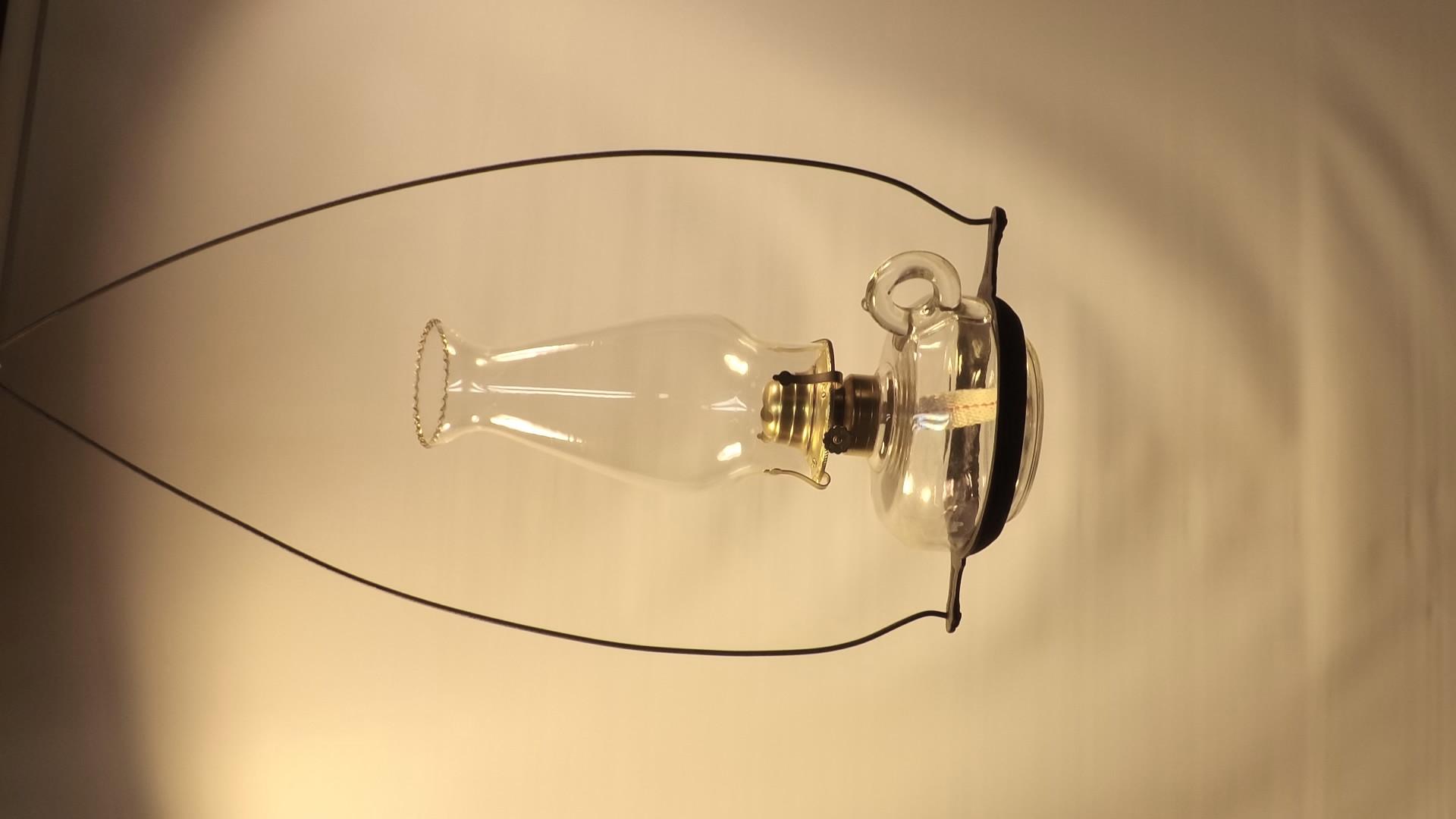 Plain hanging lamp - uses finger lamp font