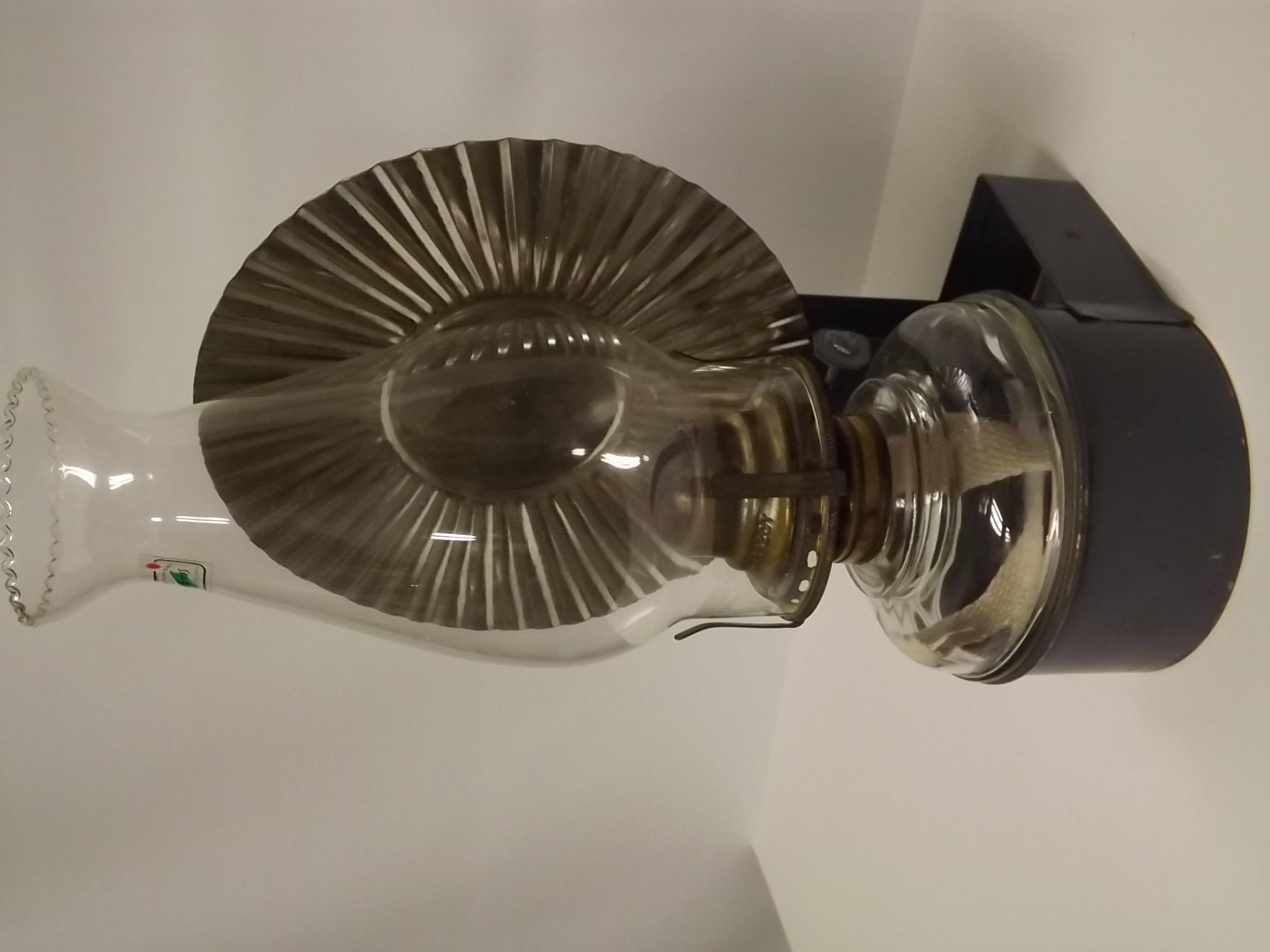 Old tin Economy style wall bracket lamp