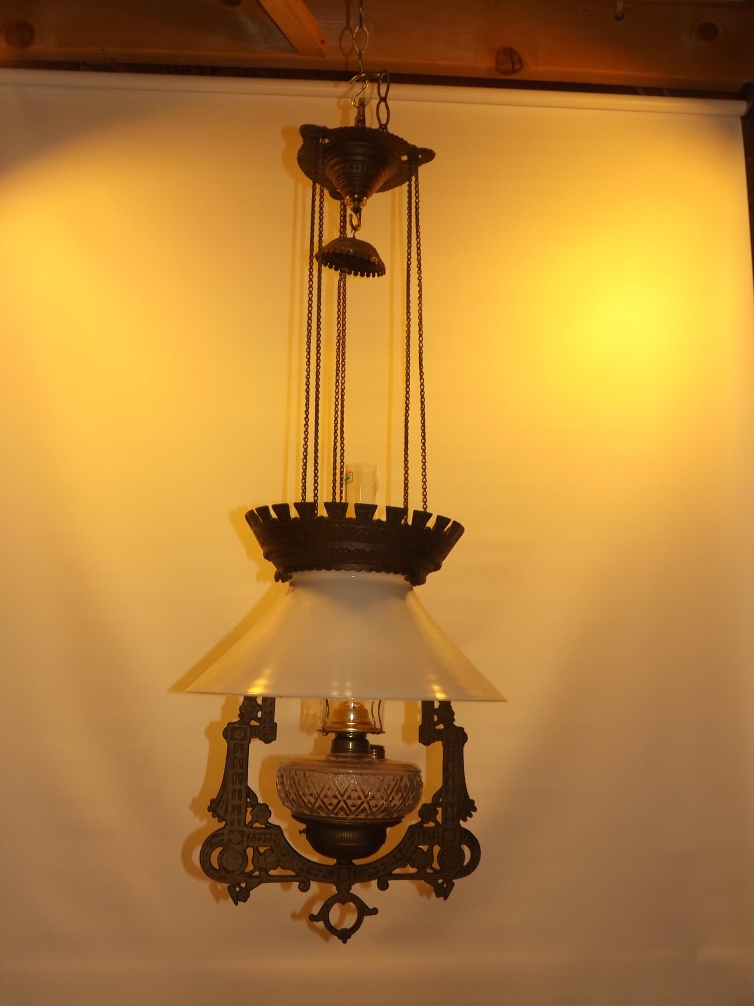 Antique Cast Iron Hanging Lamp