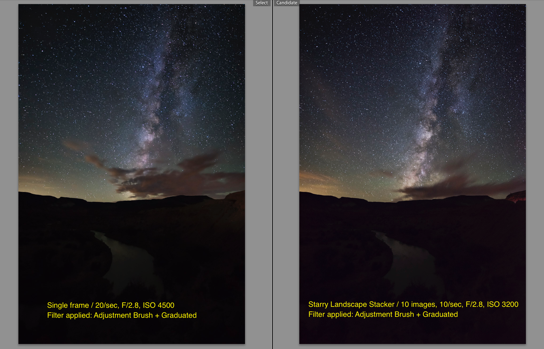 Single image on left and SLS file on right
