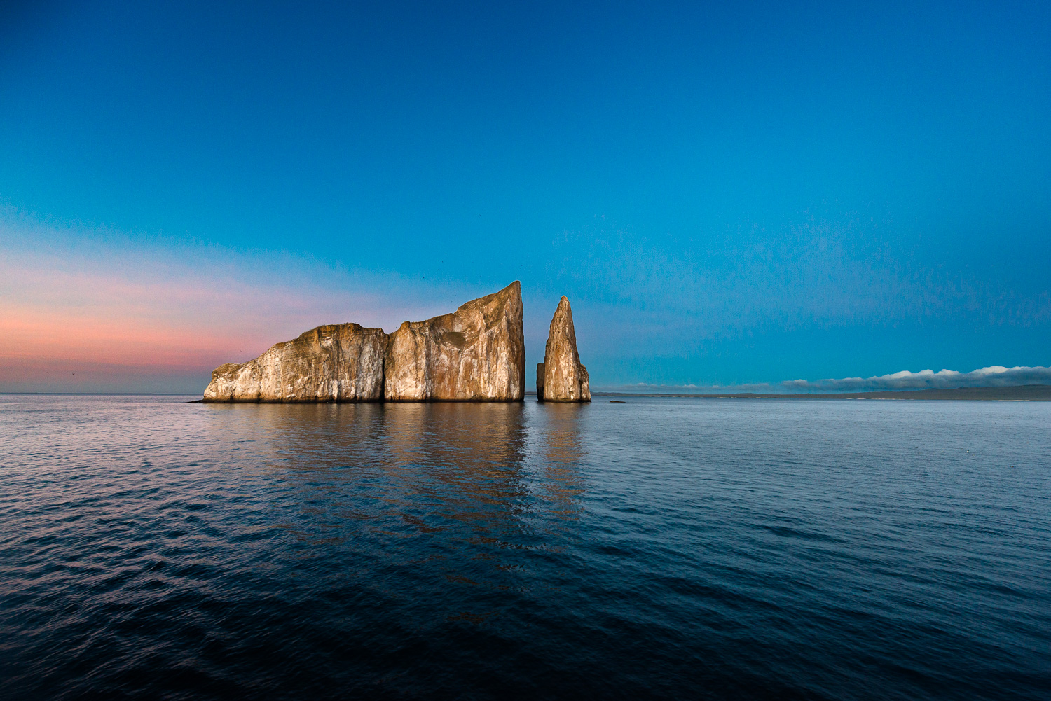 dusk at Kicker Rock, Galapagos Islands, Ecuador