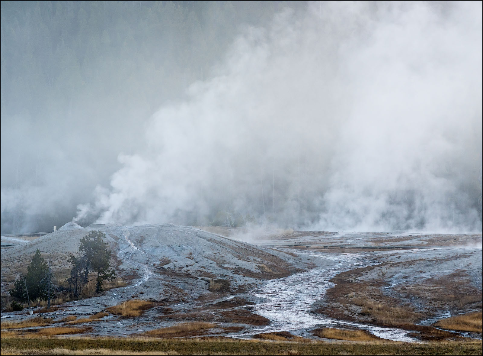 Upper Geyser Basin, Yellowstone National Park, Wyoming.