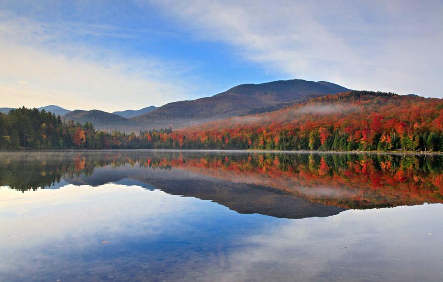 Heart Lake Algonquin Blue Banding Clouds
