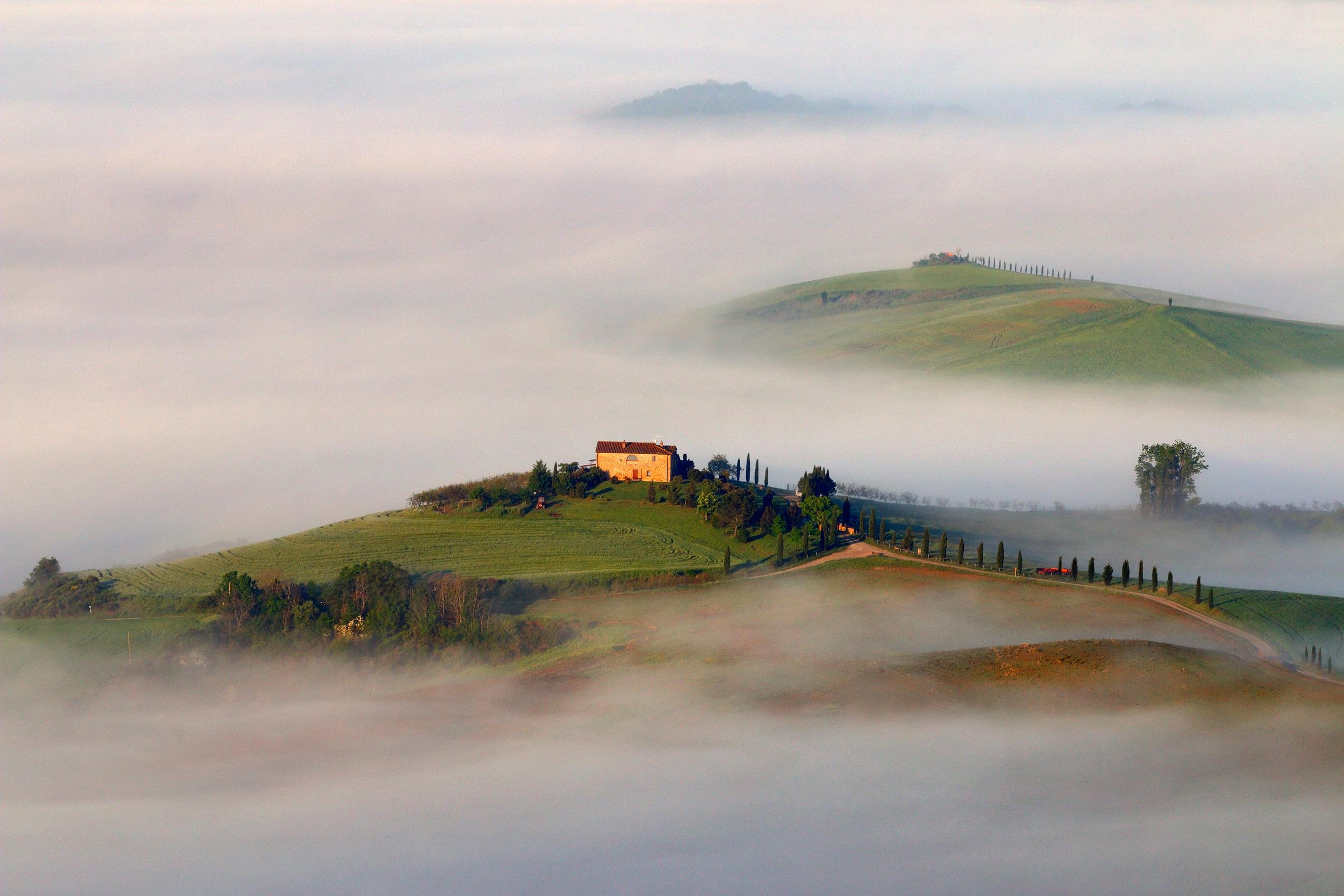 Floating farmland - Valdorcia hills, Tuscany, Italy