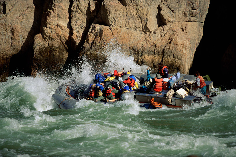 Rafting on Crystal Rapid, Colorado River Grand Canyon National Park
