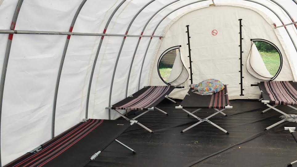 Ozerny Base Camp inside tents.jpg