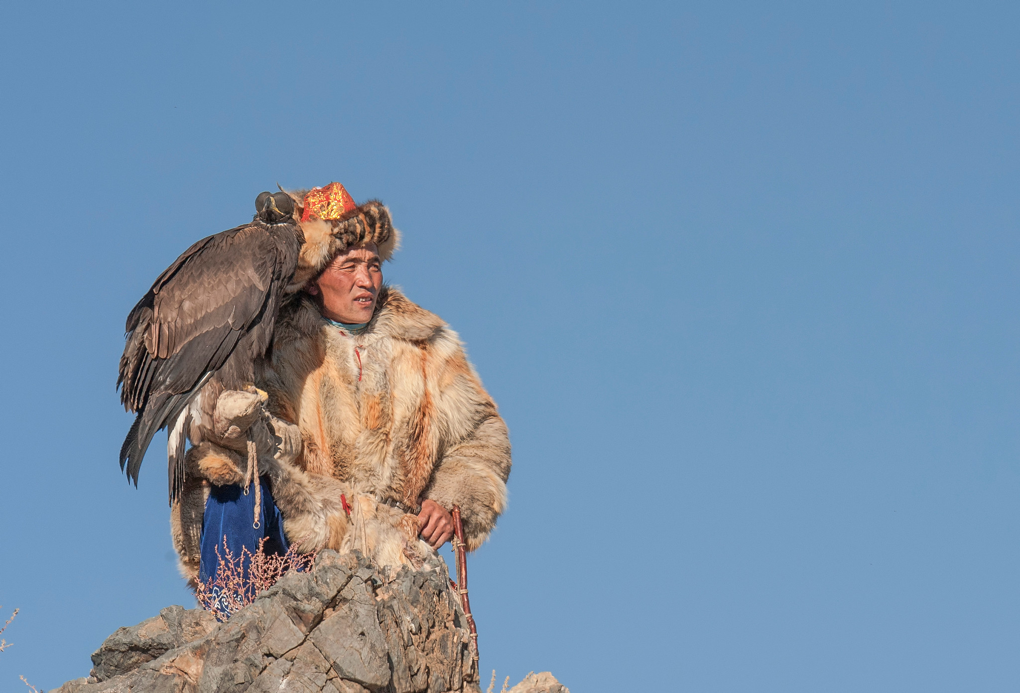 kazakh eagle hunter on top of mountain with eagle-X4.jpg