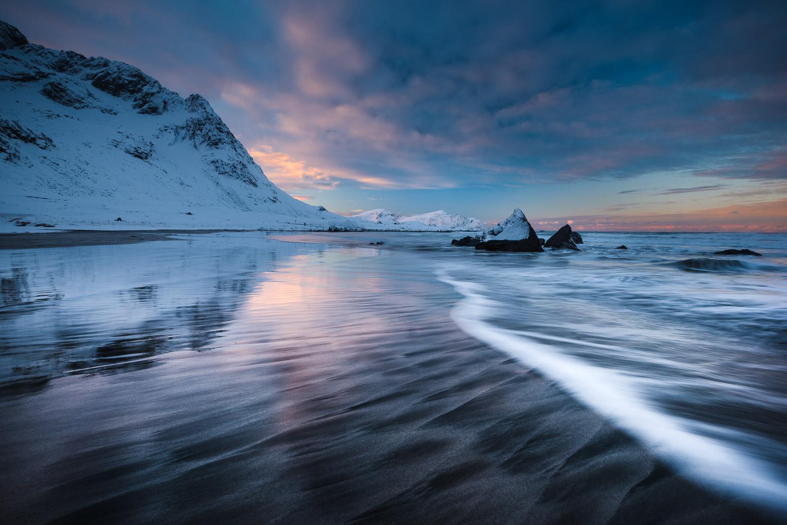 Skagsanden Beach, Lofoten Norway