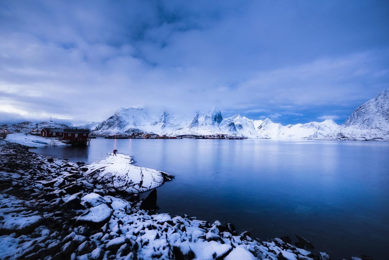 landscape photographer, Sakrisoy, Lofoten, Norway
