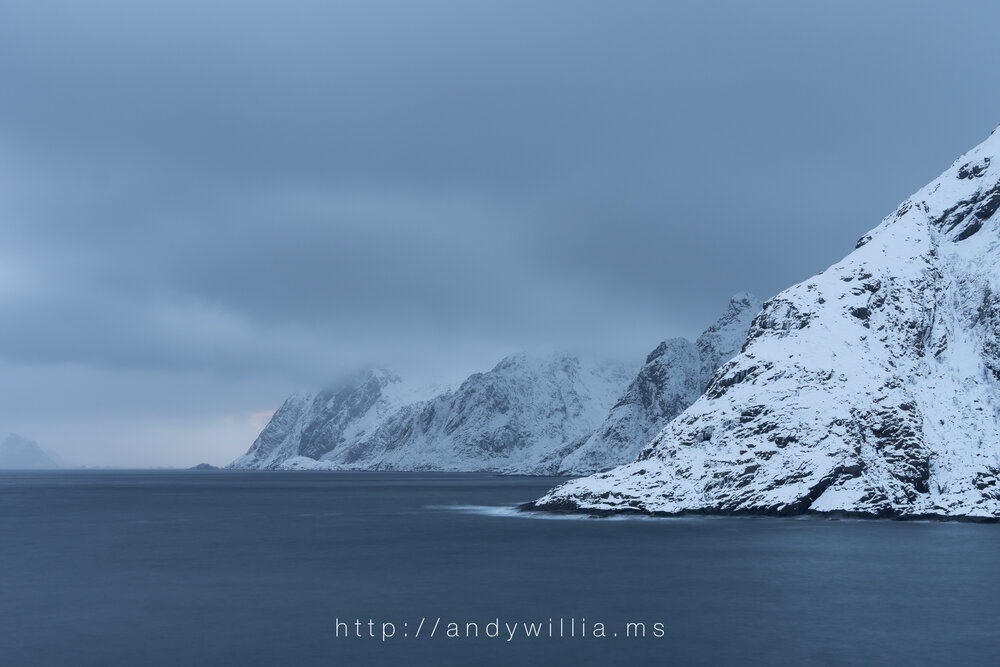 Coastal view from the village of Å, Lofoten Islands, Norway.