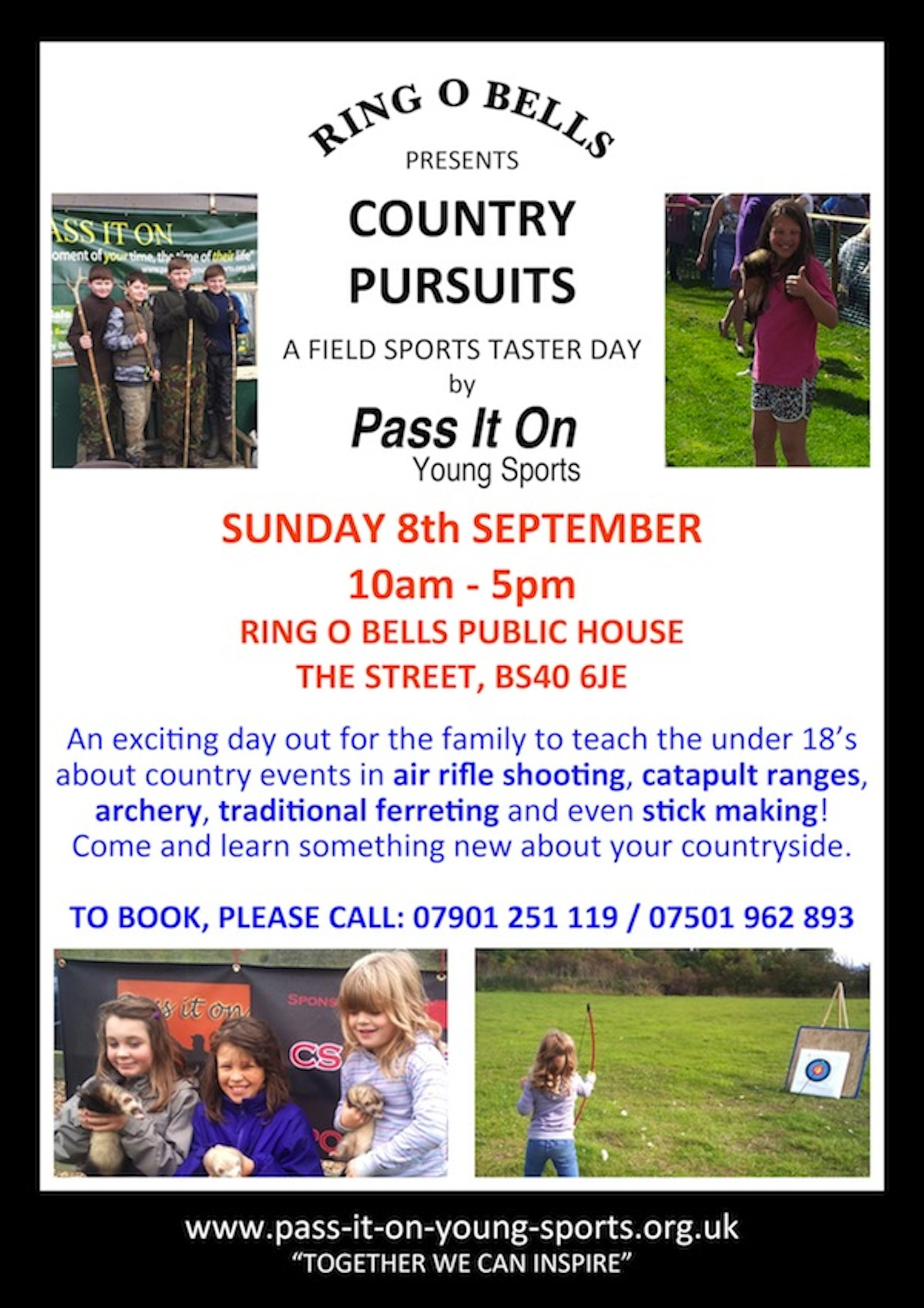 Pass It On Country Pursuits Taster Day