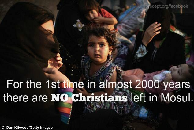 The Christian persecution in Mosul is horrific. Many have been beaten and forced to flee with nothing but the clothes on their back. Others have been outright murdered. Despite these consequences, over 40,000 have stood for their faith in Christ and refused to denounce Jesus Christ as their savior.