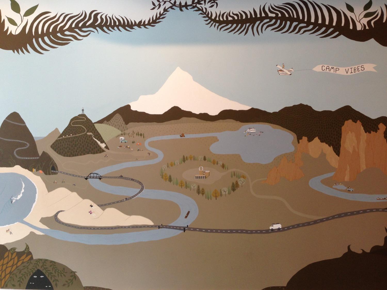 A mural at Poler