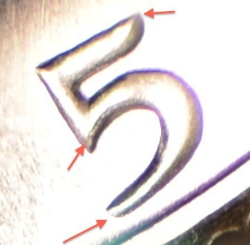 Arrows pointing to doubling on the date, specifically the 5.