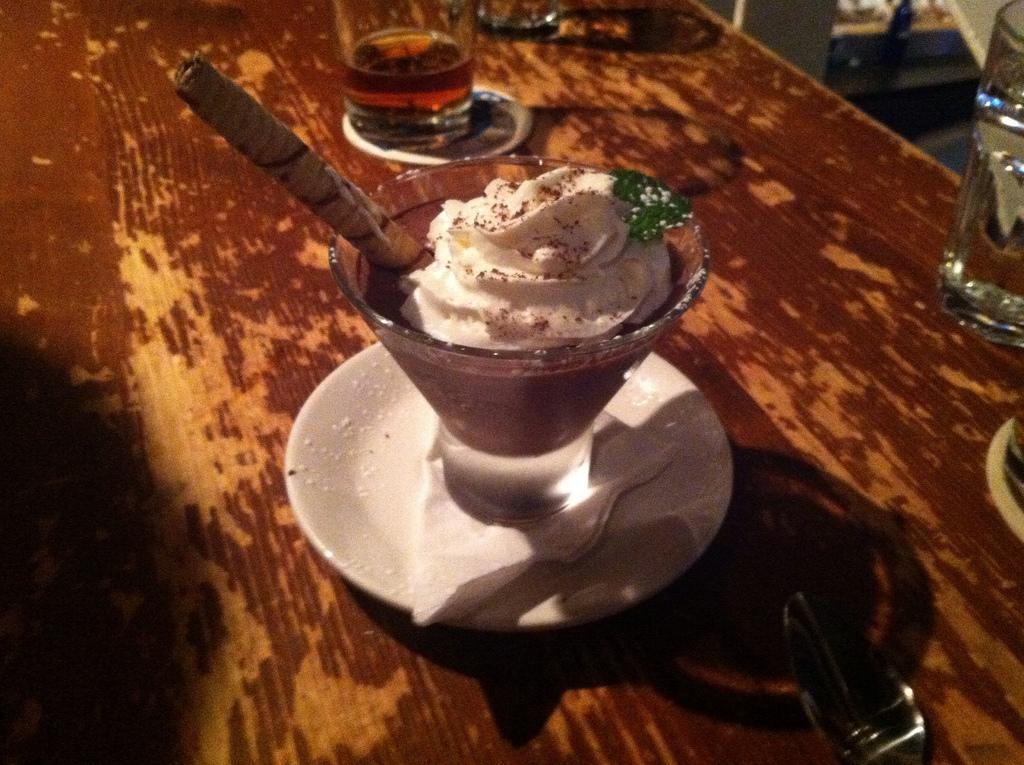 Mousse for dessert. A delicious end!
