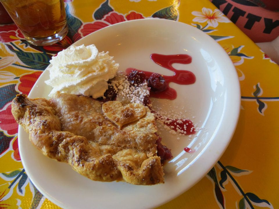 homemade cherry pie at the Burr Trail Grill. it was yummy with a kick to it. Spicy Cherry pie totally works too!