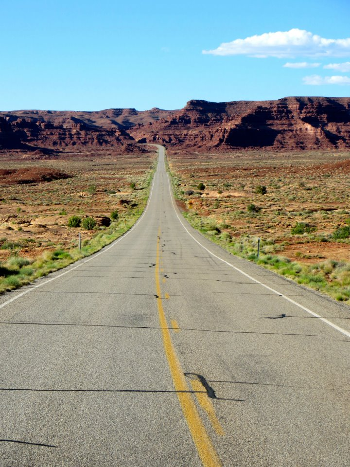 The coolest road ever, just beyond Hite.