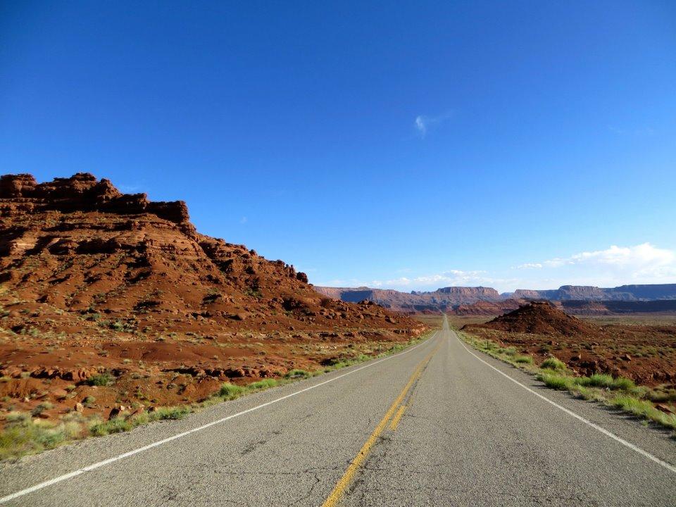 The road beyond Hite.