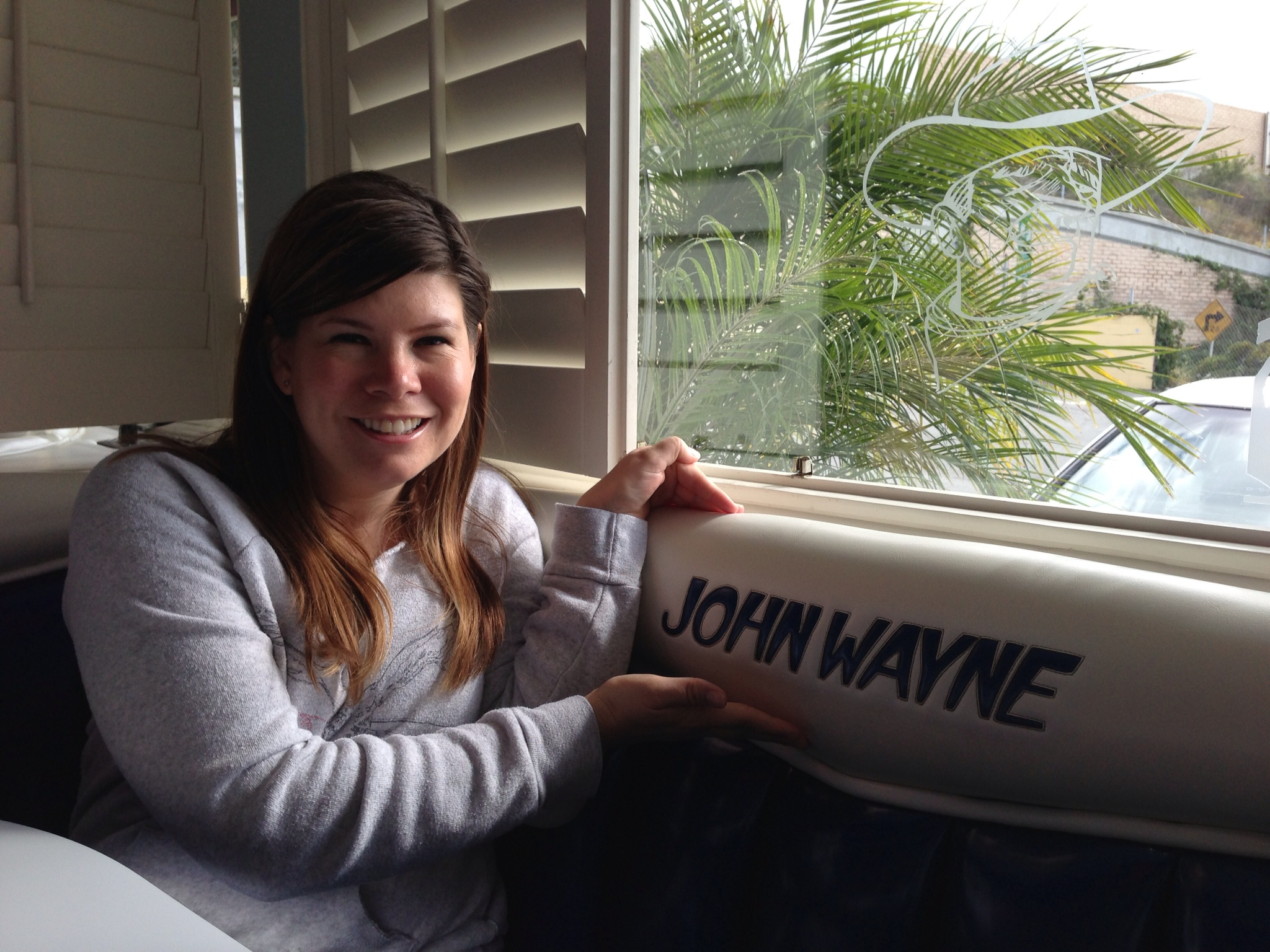 We were seated in the John Wayne Booth!