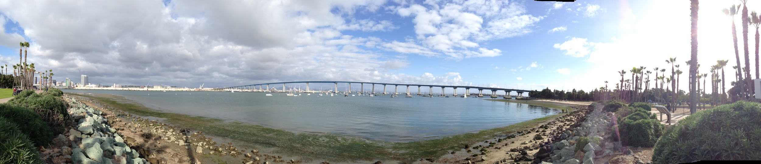 Panorama taken from the park- this is the bridge that we crossed.