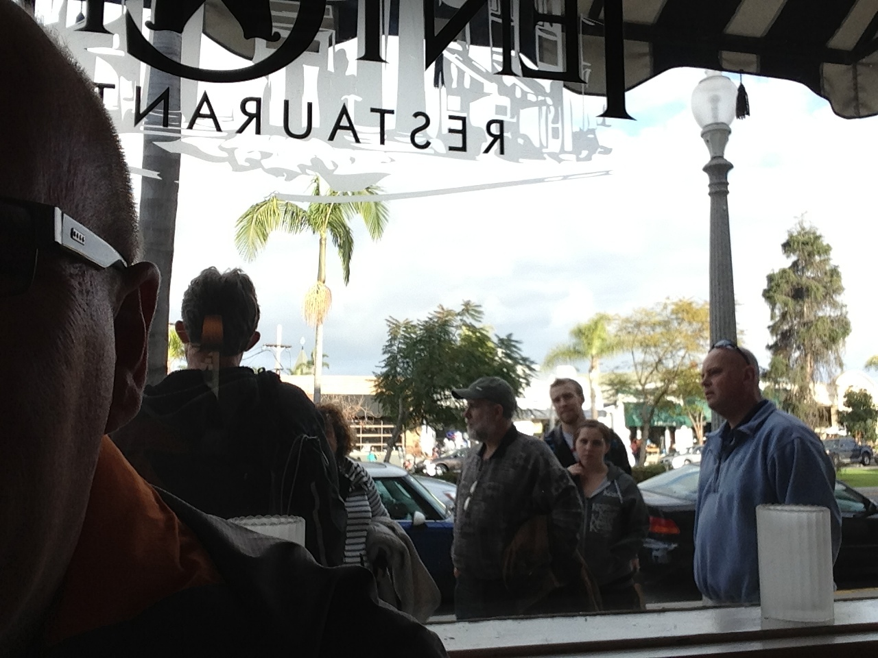A tour group stopped right in front of the window as we were eating. I felt like I was in a fish bowl for about fifteen minutes.