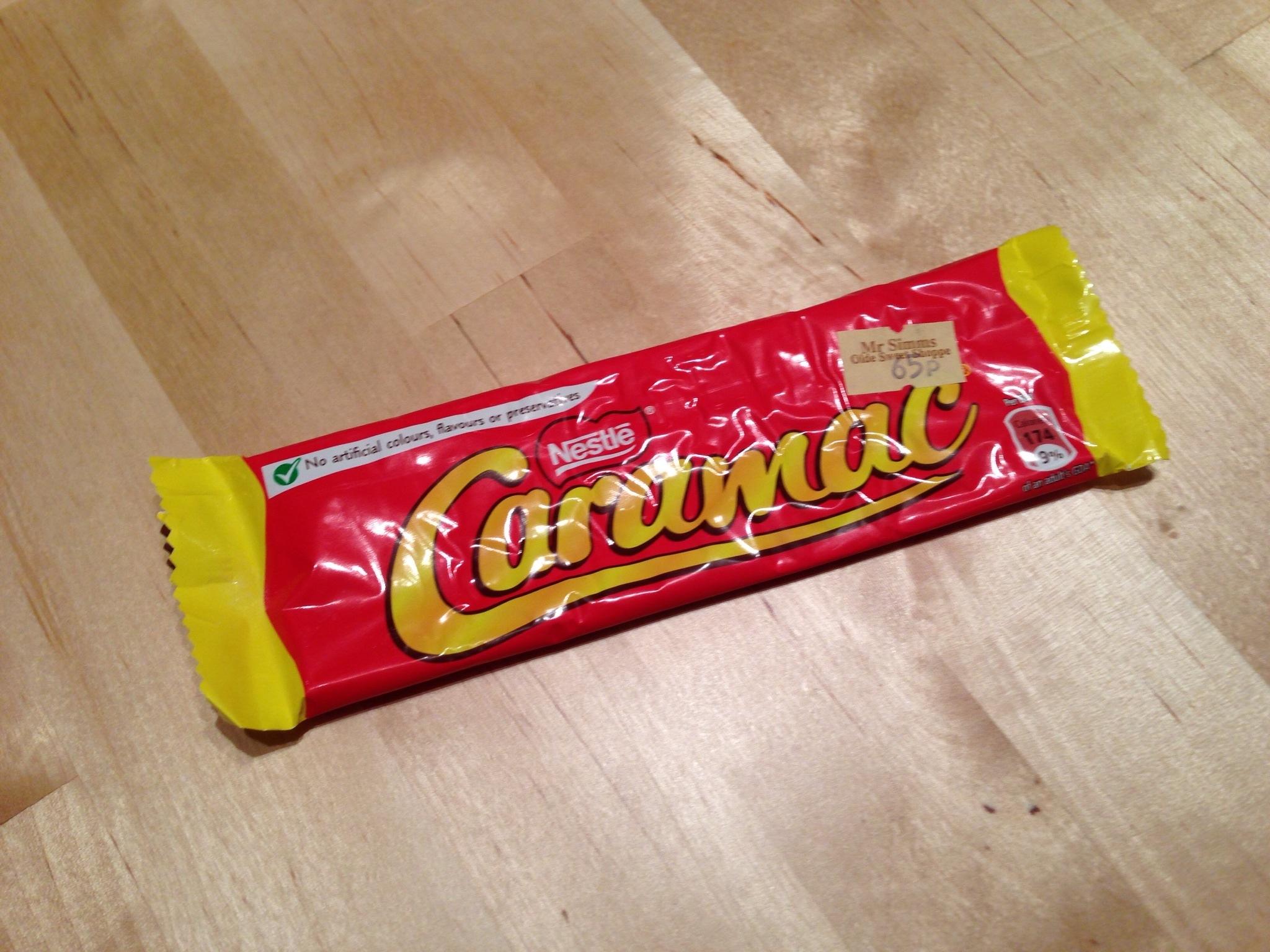 Caramac Packaging.