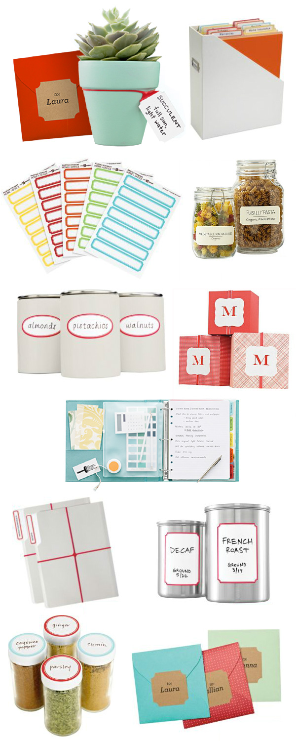 Super cute Martha Stewart Labels. I covet them!!!!