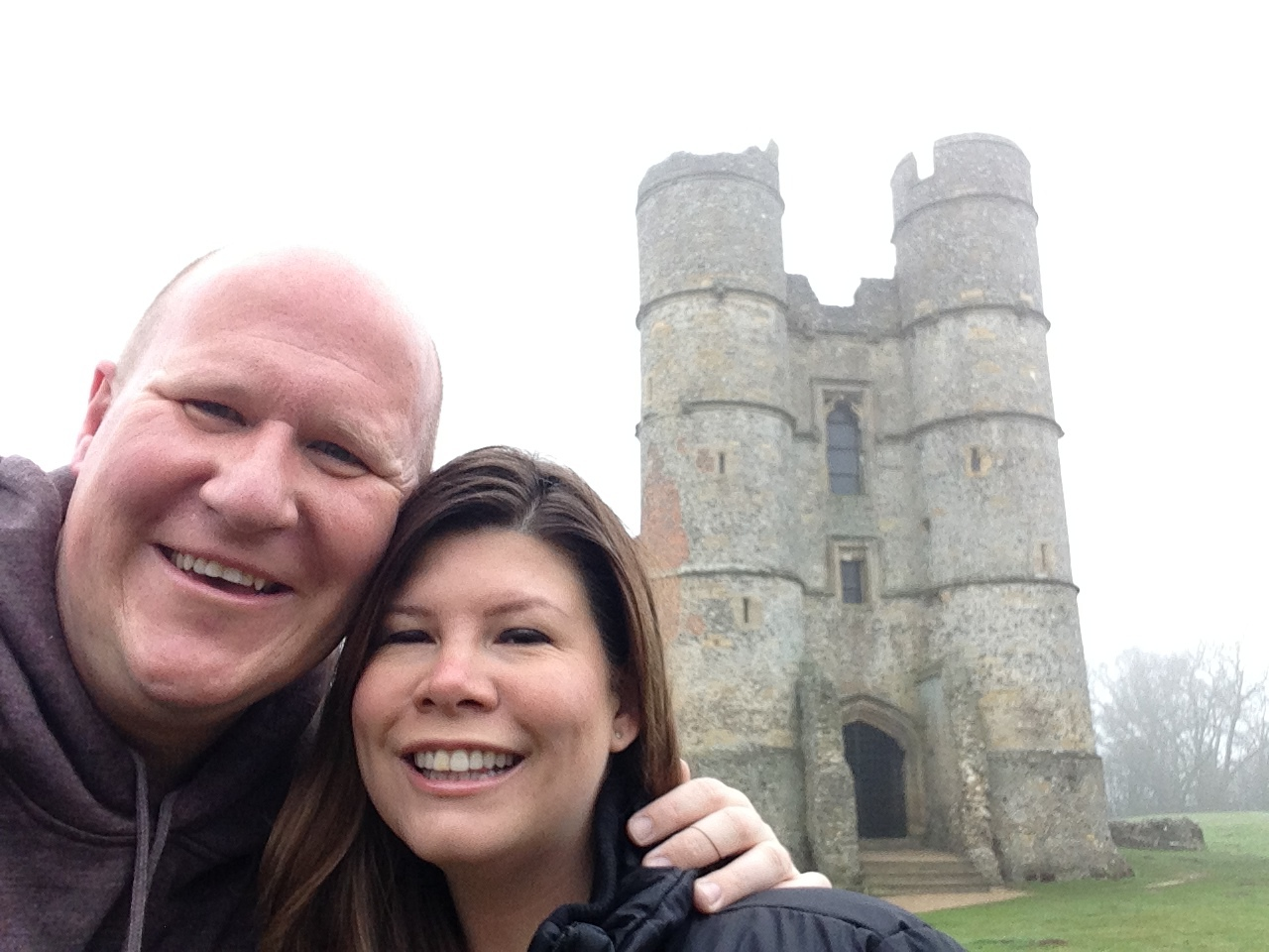 Dan and i at Donnington Castle