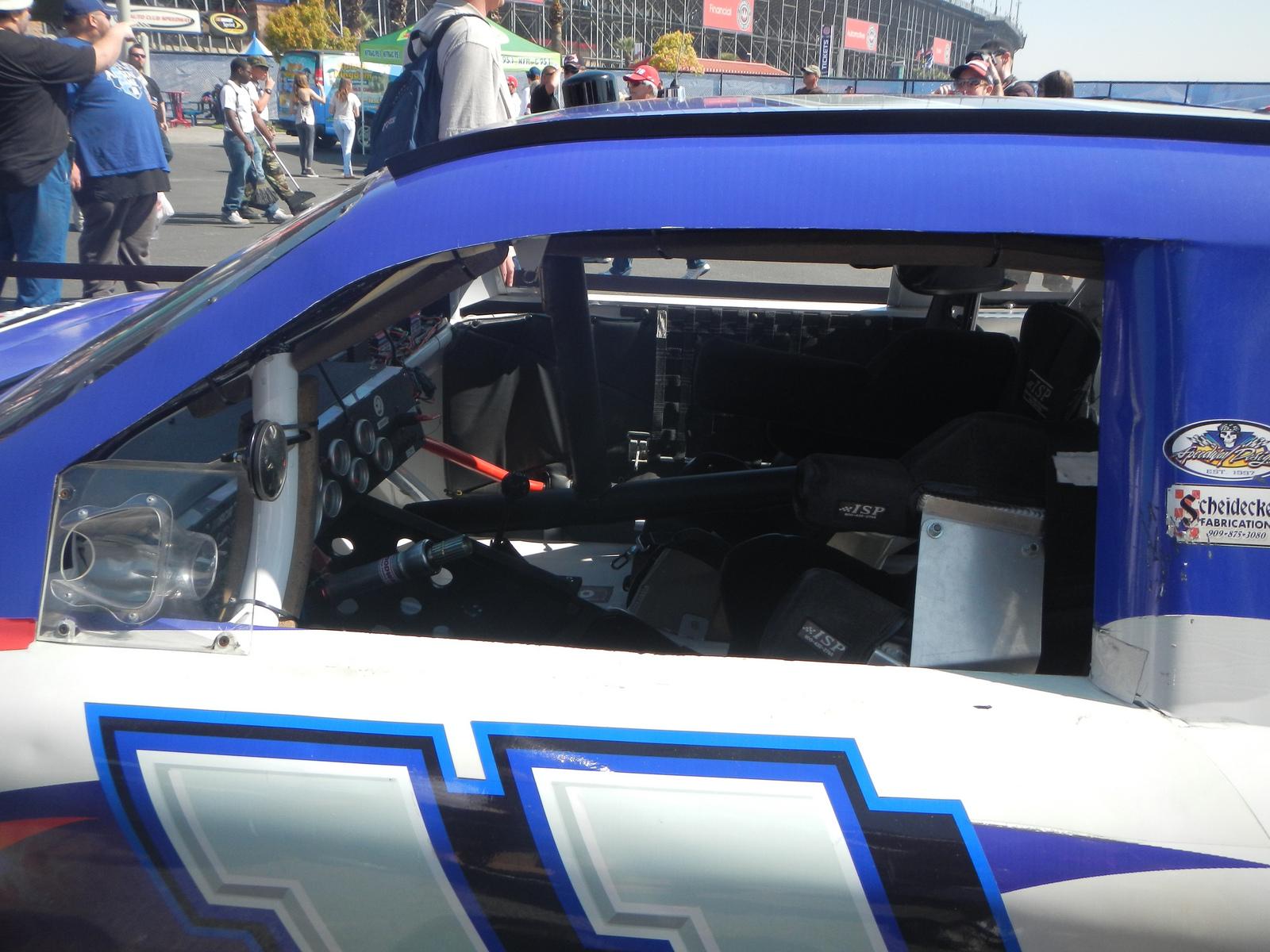 Race car interior