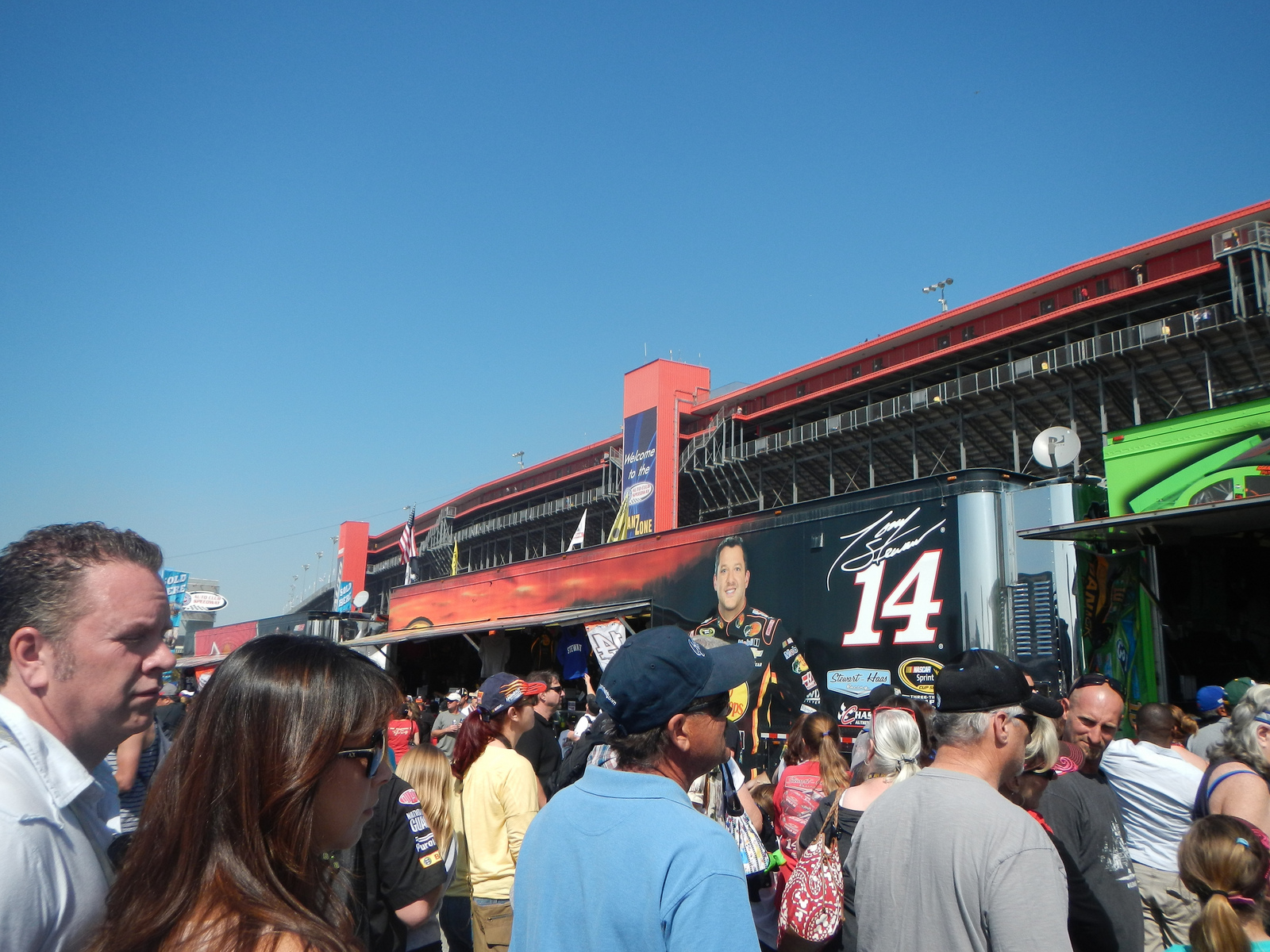 The Danica Patrick merch booth was by far the most crowded.