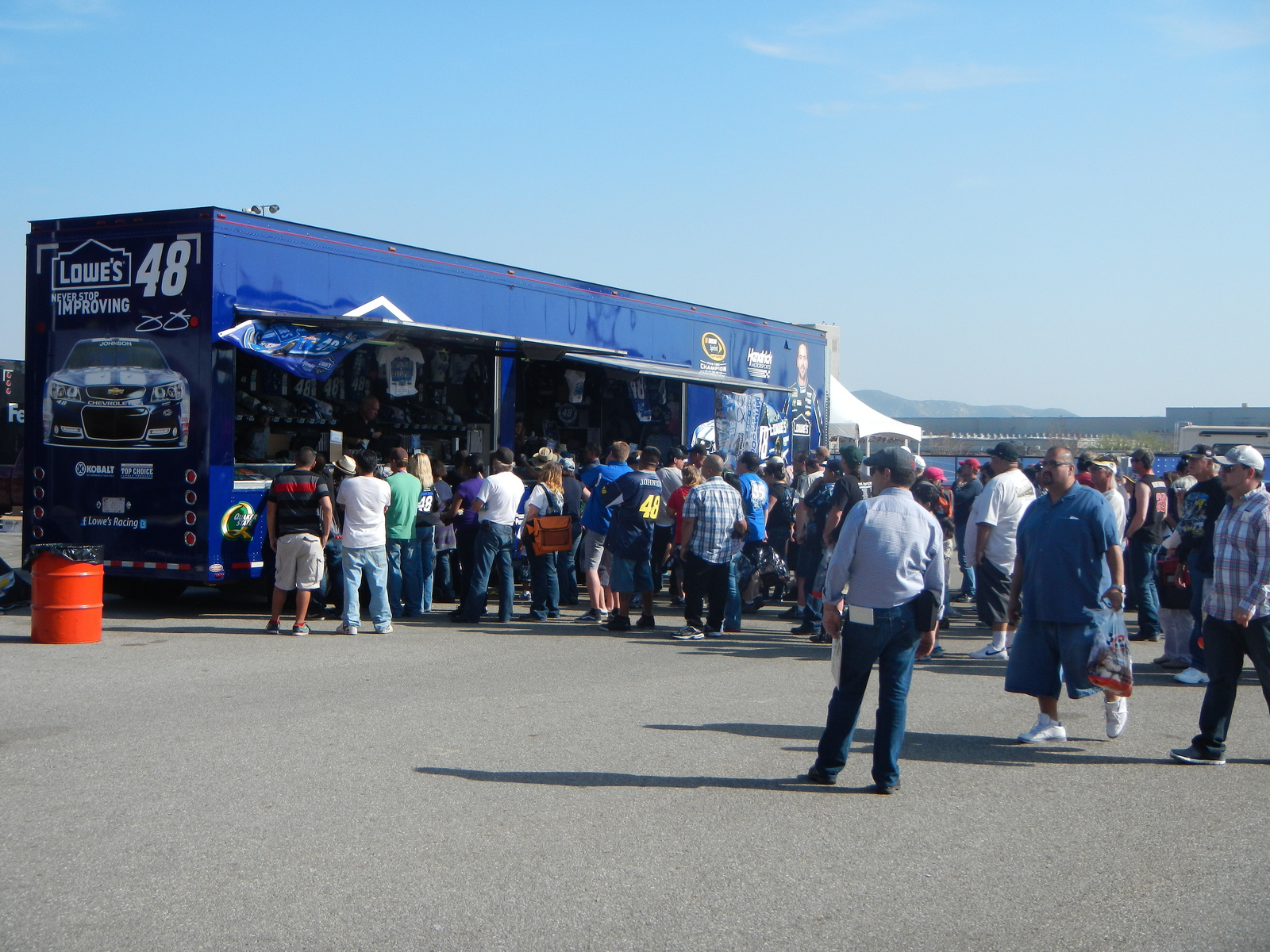 Jimmie Johnson's Merch. I was rooting for the cute local boy!