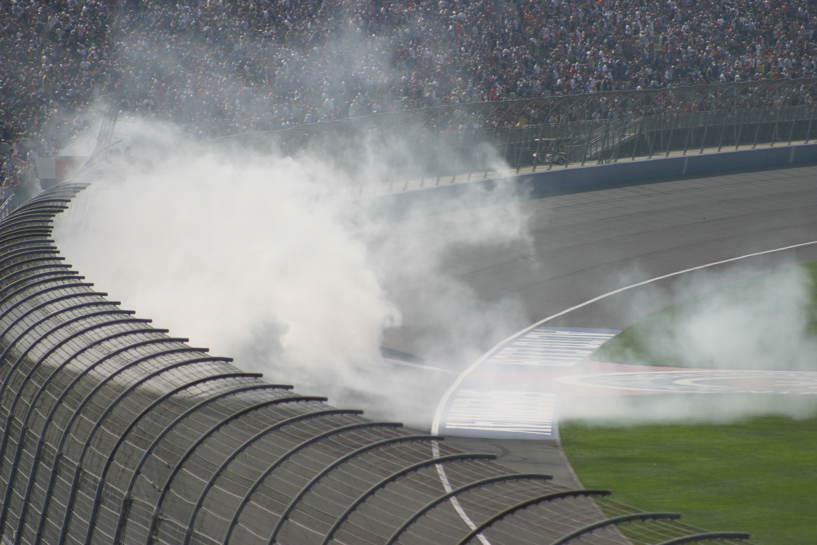Busch's victory burn-out