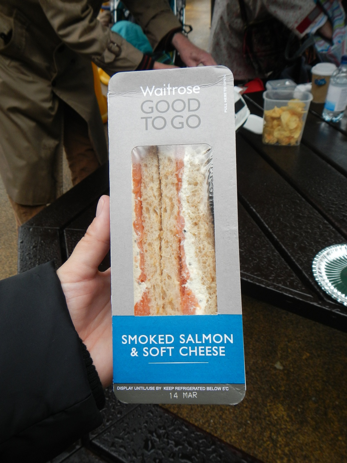I wish we had Waitrose and their pre-made sandwiches in America.