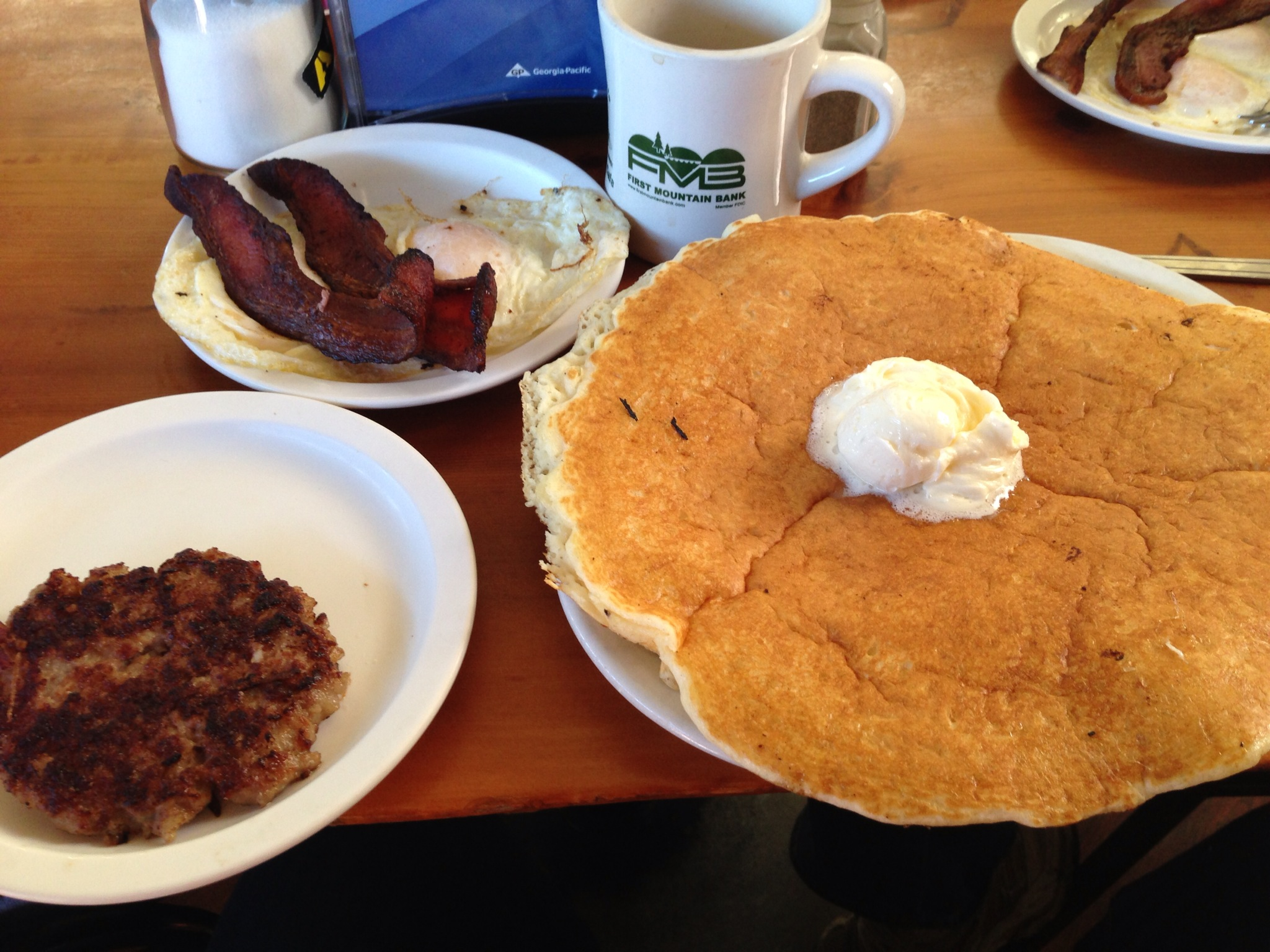 Dan's breakfast at Grizzly Manor Cafe.