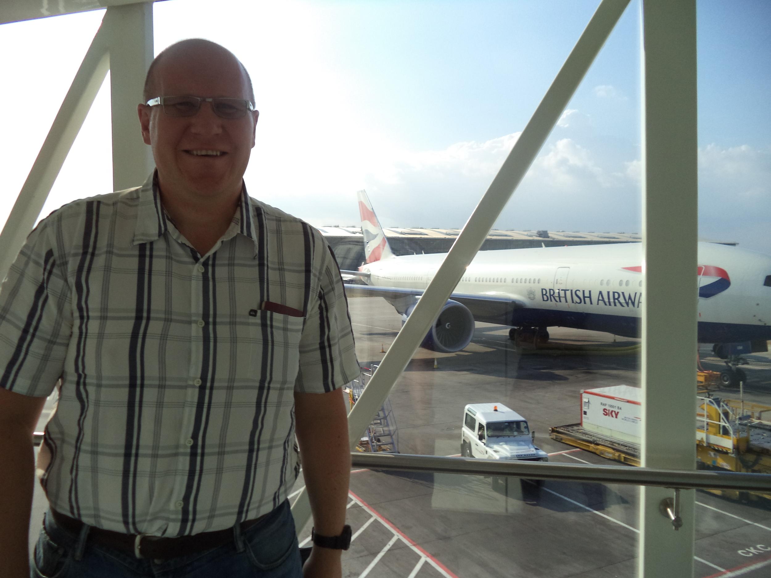 Dan at Heathrow