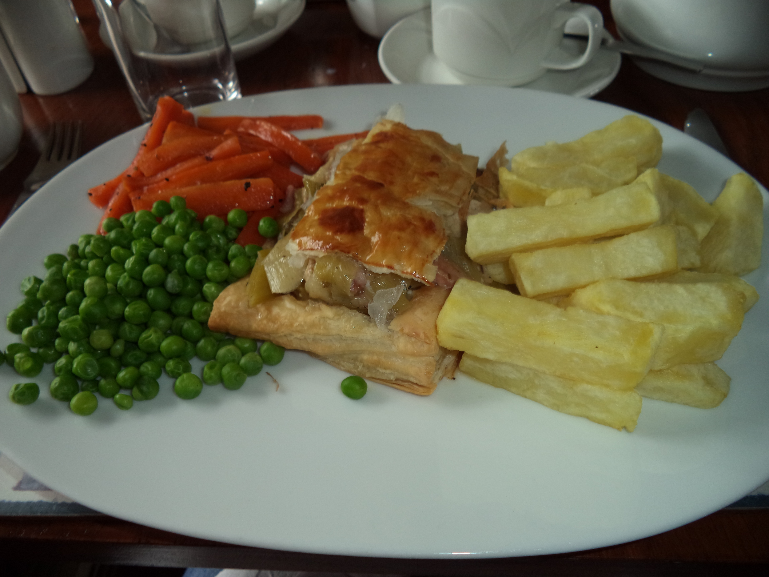 Chicken and Leek Pie with the dessert carrots!