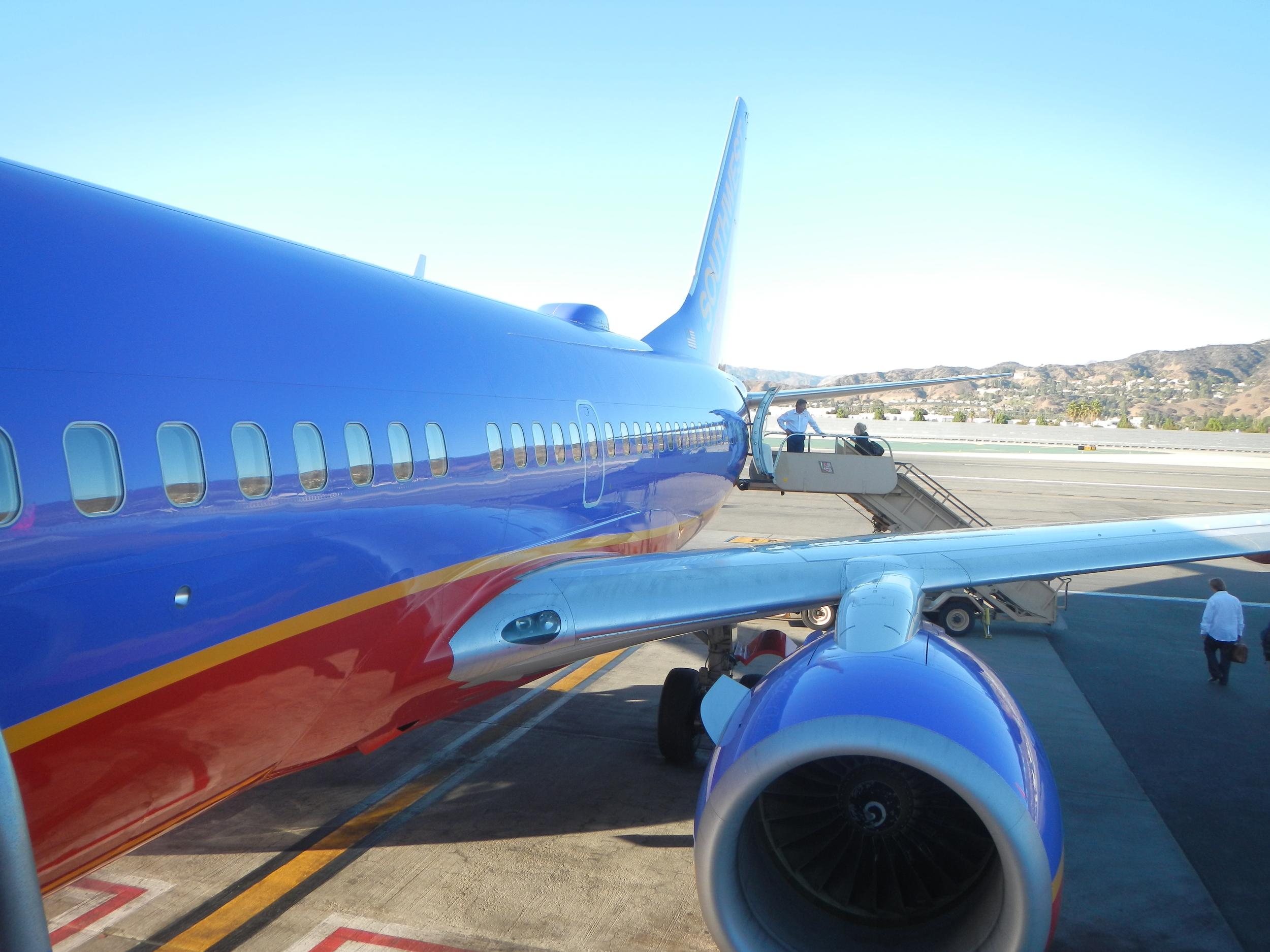 Boarding our flight