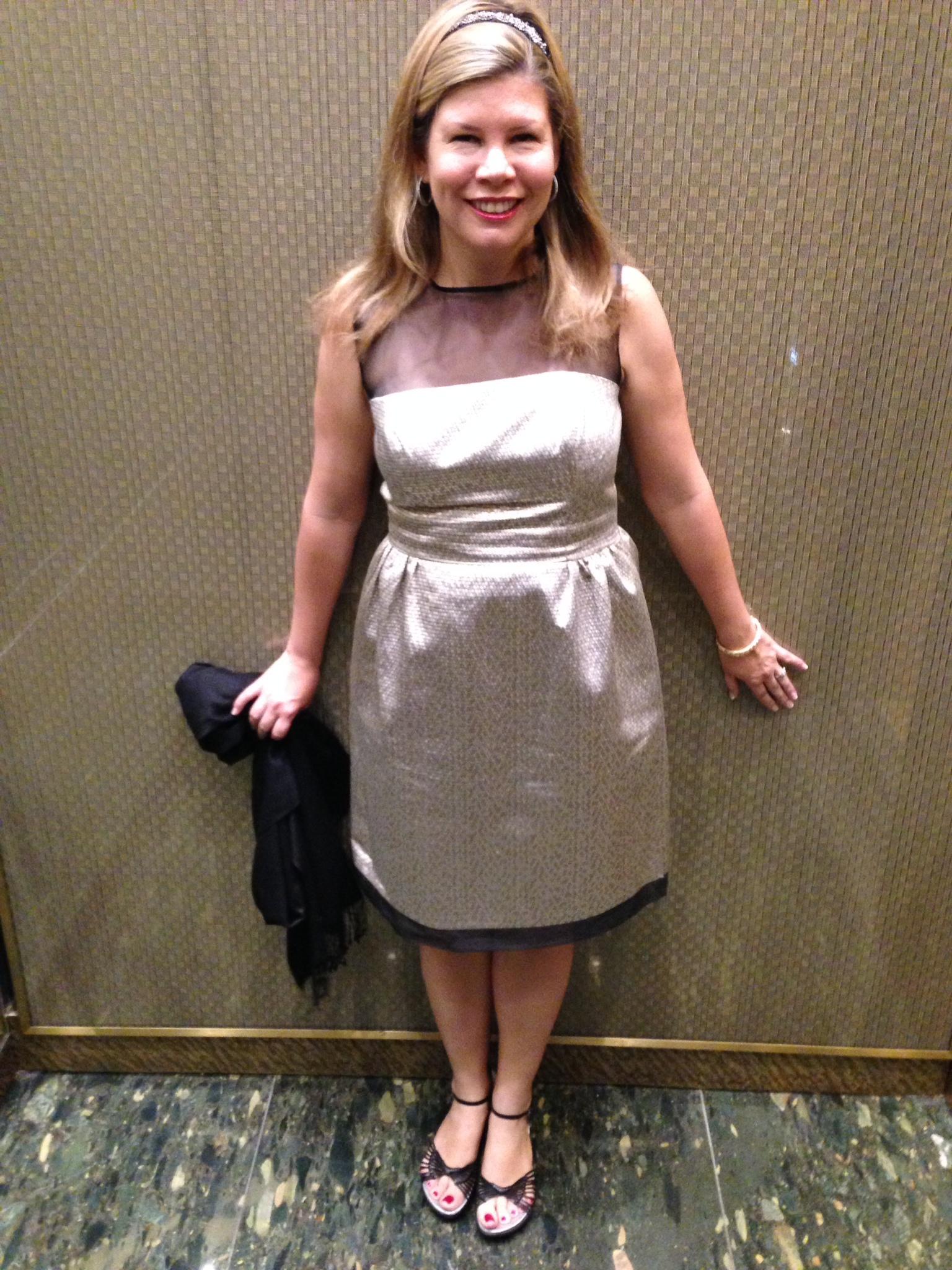 My dress matches the elevator!